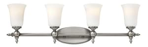 Hinkley Lighting Yorktown 9-1/2 in. 100W 4-Light Wall Mount Medium E-26 Bath Light H5744