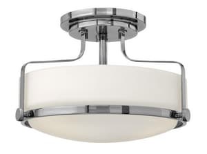 Hinkley Lighting Harper 100W 3-Light Medium E-26 Base Semi Flushmount Ceiling Fixture H3641