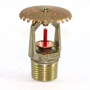 Tyco Fire Suppression & Build 1/2 in. Quick Recessed Up Brass T773701