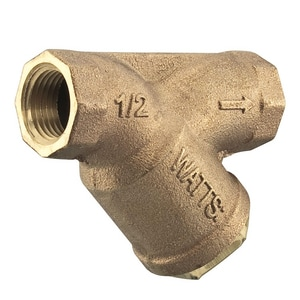 Watts 400 psi Bronze Female Threaded Wye Strainer WLF777SM120