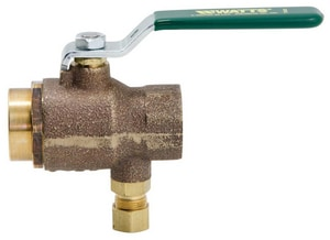 Watts Ball Valve with Relief Valve WLFBRVT125