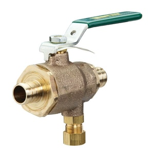 Watts 3/4 in. 125 psi PEX Ball Valve with Relief Valve WLFBRVP125F