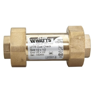 Watts FPT Dual Check Backflow Preventer WLF7RU22DD