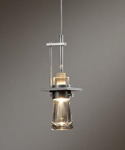 Hubbardton Forge 50 W 1-Light Capsule Pendant in Vintage Platinum H1610601003