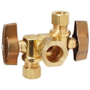 Brass Craft Nominal Compression Dual Outlet Angle Supply Kit BKTCR1901DVXR