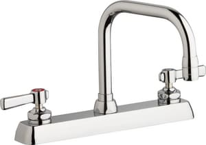 Chicago Faucet 1.5 gpm Double Lever Handle Hot & Cold Water Workboard Faucet CW8DDB6AE35369AB