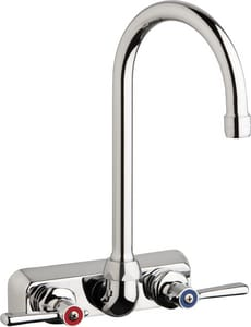 Chicago Faucet 1.5 gpm Hot and Cold Water Washboard Faucet CW4WG2E35369AB
