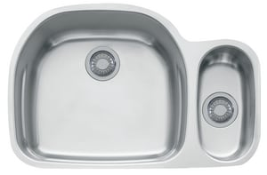 Franke Consumer Products Prestige 2-Bowl Kitchen Sink in Stainless Steel FPRX160