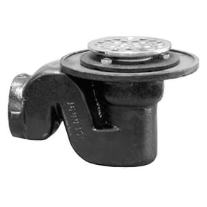 Jones Stephens 2 in. IPS Cast Iron Shower Drain with Trap JJ60060