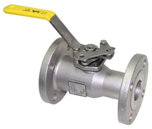 Apollo Conbraco 1-1/2 in. 150# Stainless Steel Flanged Reduced Port Ball Valve with Lock Handle A87A10701A