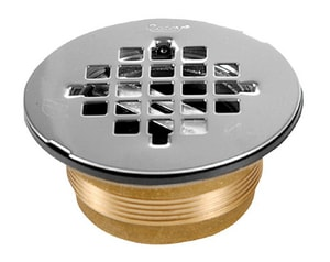 Oatey 2 in. Brass No Caulk Shower Drain Stainless Steel Strainer O42150