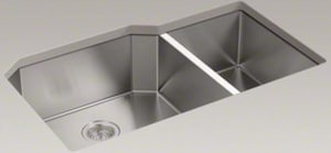 Kohler Strive™ 32 x 20-1/4 in. Under-Mount Extra Large/Medium Double Bowl Kitchen Sink K5282-NA