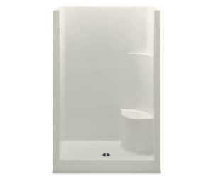 Aquatic Industries Everyday 48 x 34-3/4 in. Shower Raisd Seat A1483OSRBI