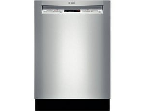 Bosch 24 in. Recessed Handle Dishwasher in Stainless Steel BSHE53T55UC