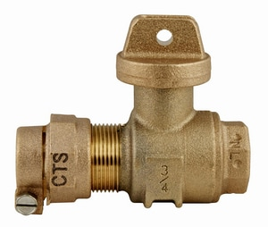 Ford Meter Box Pack Joint x FIPT Brass Ball Valve Curb Stop FB41444RNL