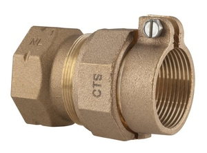 Ford Meter Box FIP x CTS Brass Reducing Coupling FC1412N
