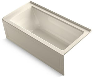 Kohler Archer® 60 x 42 in. Bathtub with Center Drain K1947-GRA
