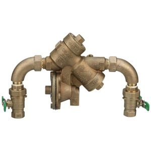 Wilkins Regulator Threaded Cast Bronze Reduced Pressure Principle Assembly with Union Ball Valve and Lever Handle W975XL2SEU
