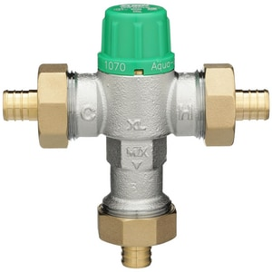 Wilkins Regulator Aqua-Gard® 1/2 in. Barbed Thermostatic Mixing Valve WZW1070XLPEXD