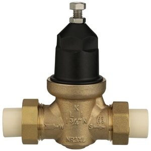 Wilkins Regulator CPVC x Double Union Pressure Reducing Valve WNR3XLDUCPVC