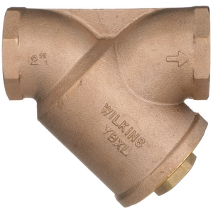 Wilkins Regulator Threaded Brass, Cast Bronze and Stainless Steel Mesh Wye Strainer WYBXL