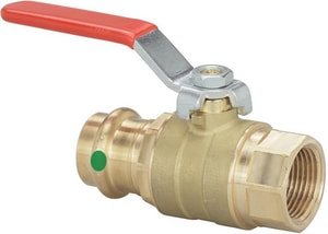 Viega Press x FPT Bronze Full Port Ball Valve with Lever Handle V24040