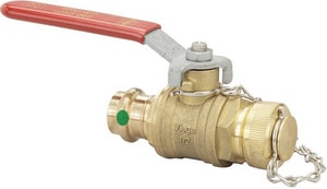 Viega North America Bronze Ball Valve with Metal Handle V24050