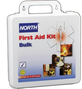 North Safety Products 50-Person Plastic Bulk First Aid Kit N0197040003L