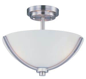 Maxim Lighting International Deven 10 in. 3-Light Semi-Flush Mount Ceiling Fixture M20031SW