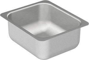 Moen 2000 Series 20 ga 1-Bowl Undermount Kitchen Sink with Center Drain in Stainless Steel MG204502
