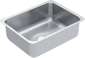 Moen 18 x 23 in. 18 Gauge Single Bowl Undercounter Kitchen Sink Stainless Steel MG18191