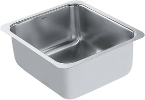 Moen 1800 Series 1-Bowl Undermount Bar Sink with Mounting Bracket in Stainless Steel MG18443