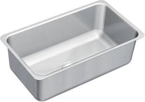Moen 31.25 x 18 in. 18 Gauge Single Bowl Undercounter Kitchen Sink Stainless Steel MG18110