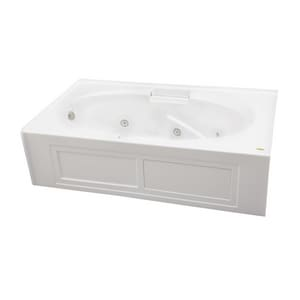 Jacuzzi Majora® 72 x 42 in. Acrylic Rectangle Skirted Whirlpool Bathtub with Left Drain and J2 Basic Control JMJS7242WLR2CH