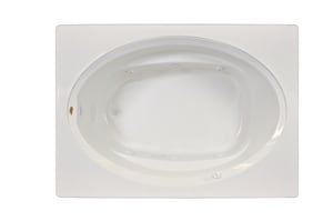 Jacuzzi Signature™ 60 x 42 in. 6-Jet Acrylic Oval in Rectangle Drop-In Whirlpool Bathtub with Left Drain and Manual On or Off JJ4T6042WLG1HX
