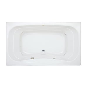 Jacuzzi Signa® 72 x 42 in. Acrylic Rectangle Drop-In or Skirted Whirlpool Bathtub with Center Drain and J2 Basic Control JSIG7242WCR2HX