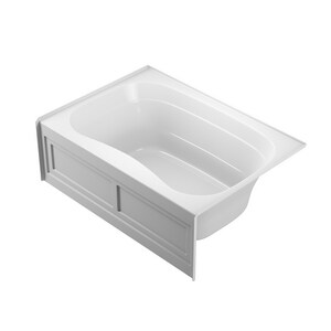 Jacuzzi Signature™ 60 x 60 in. 6-Jet Acrylic Corner Drop-In Whirlpool Bathtub with Center Drain and Manual On or Off JJ5T6060WCR1XX