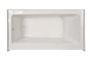 Jacuzzi Signature™ 60 x 30 in. 6-Jet Acrylic Rectangle Skirted Whirlpool Bathtub with Left Drain and Manual On or Off JJ1S6030WLR1HX