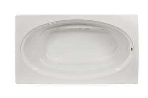 Jacuzzi Signature™ 72 x 42 in. 6-Jet Acrylic Oval in Rectangle Drop-In Whirlpool Bathtub with Left Drain and Manual On or Off JJ4T7242WLR1HX
