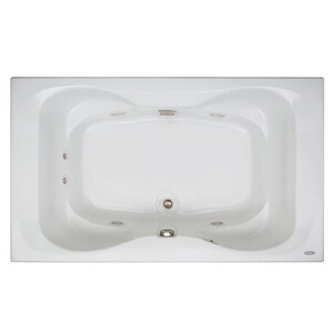 Jacuzzi Mito™ 72 x 42 in. Acrylic Rectangle Drop-In Whirlpool Bathtub with Center Drain and J2 Basic Control JMIT7242WCL2CH
