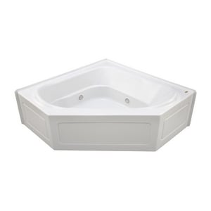 Jacuzzi Capella® 60 x 60 in. 8-Jet Acrylic Corner Drop-In or Skirted Whirlpool Bathtub with Center Drain and J2 Basic Control JCPS6060WCR2CH
