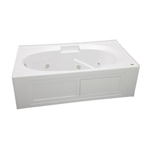 Jacuzzi Nova™ 72 x 36 in. Acrylic Oval in Rectangle Drop-In or Skirted Whirlpool Bathtub with Left Drain and J2 Basic Control JNVS7236WLR2CH