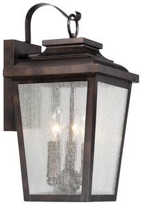 The Great Outdoors Irvington Manor 16-3/4 in. 60W Wall Mount Candelabra Lantern in Chelesa Bronze M72172189