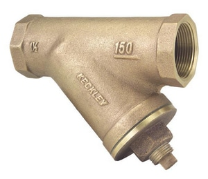 O.C. Keckley 125# Cast Bronze Threaded Mesh Wye Strainer KF150