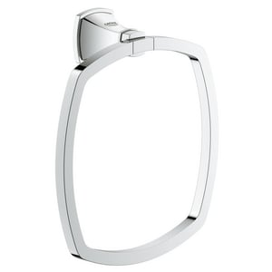 Grohe Grandera 7-3/4 in. Towel Ring in Starlight Chrome G40630000