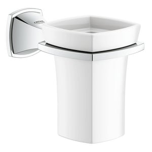 Grohe Grandera Wall Mount Holder with Ceramic Tumbler G40626
