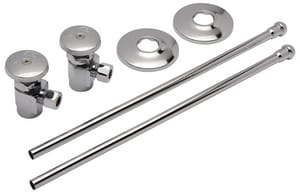 Zurn Industries Nominal x OD Heavy Duty Stop with Flexible Lavatory Supply Kit ZZH8824XLLRPC
