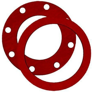 FNW 1/8 in. 300# Rubber Full Face Gasket in Red FNWR3FFGA