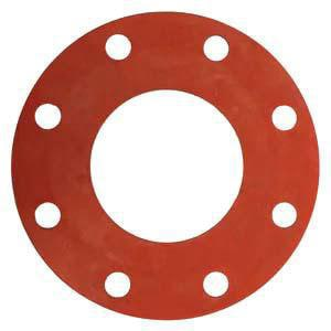 20 x 1/16 in  150# Rubber Full Face Gasket in Red