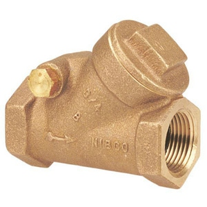 Nibco 200 psi Bronze Threaded Horizontal Swing Check Valve NKT403W